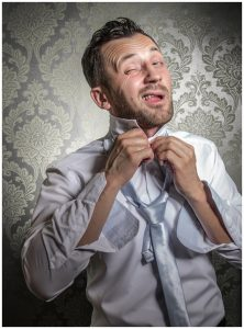 learn how to tie the groom's neck tie or bow tie for the wedding
