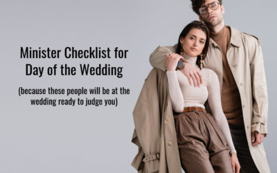 Day of the Wedding – Checklist for Ministers